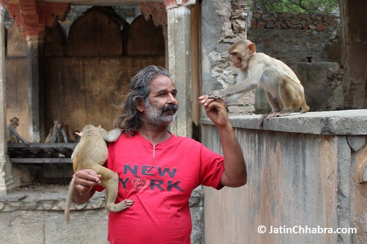 Mr Monkey Man - A guy we met at the temple