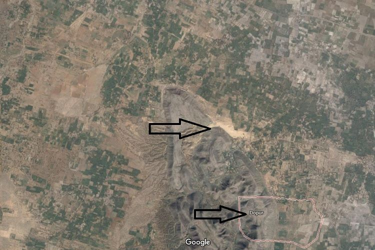 Google map image of Chhabra sand dunes
