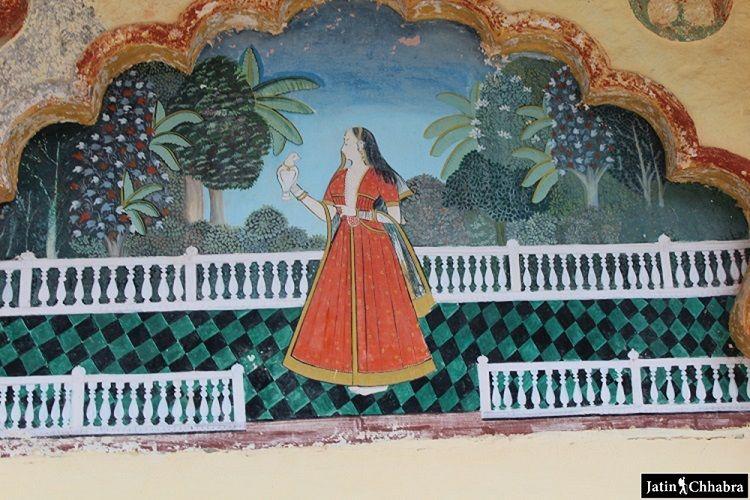 Painting at Sukh Mahal