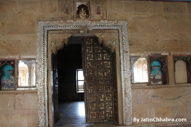 Ivory Made door of Phool Mahal