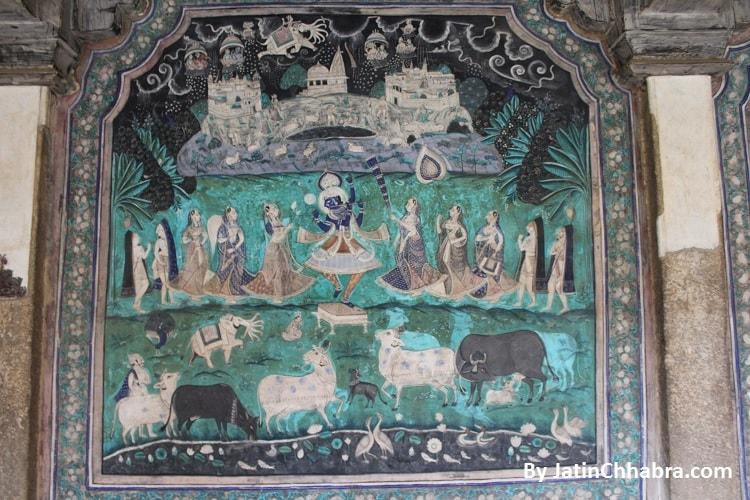 Krishna with Sakhi painting