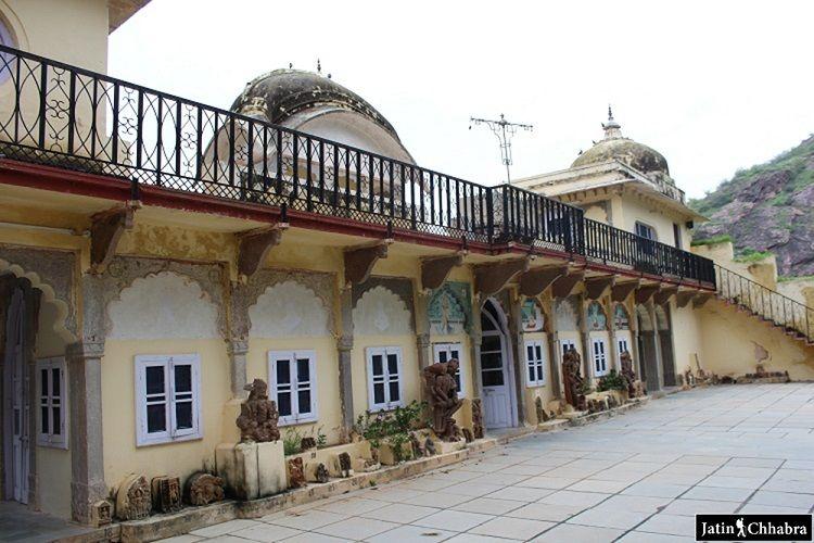 First floor of Sukh Mahal Bundi
