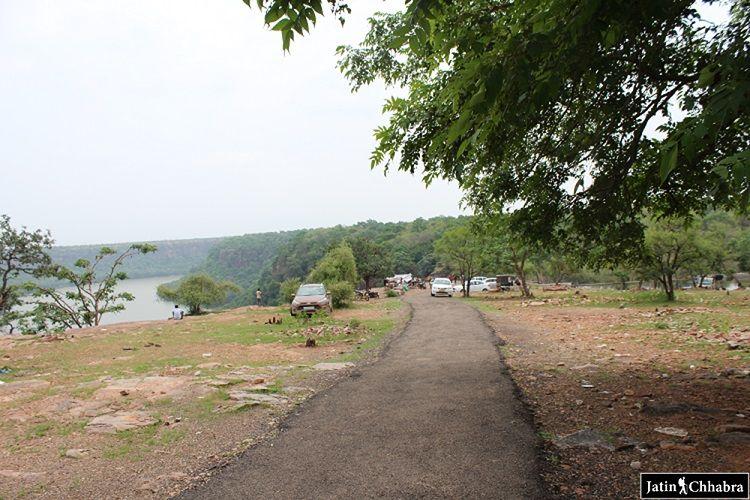 Parking of Chambal Ghati at Garadia