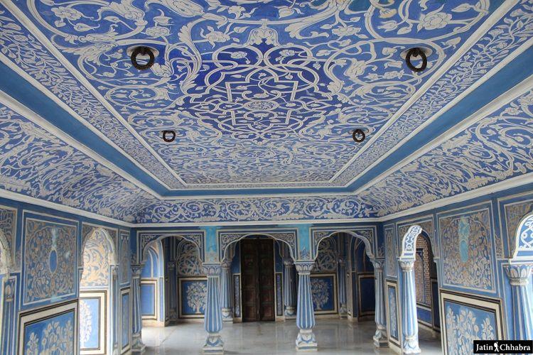 Sukh niwas at Chandra Mahal in City Palace Jaipur
