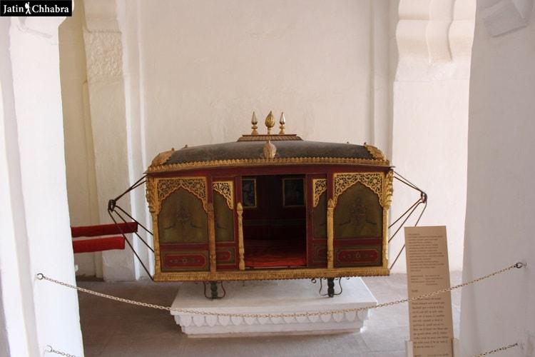 Palanquin at Mehrangarh Fort Jodhpur