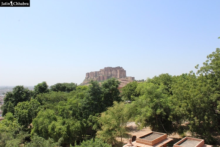 View of Mehrangarh Fort from Jaswant Thada