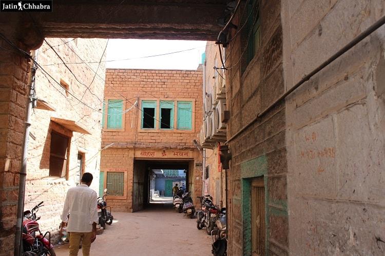 Way towards Mahila Bagh ka Jhalra