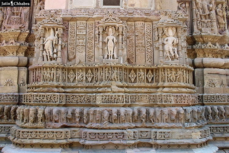 Wall statues of Modhera Sun Temple
