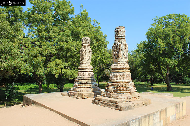 Two Pillars at Modhera Sun Temple