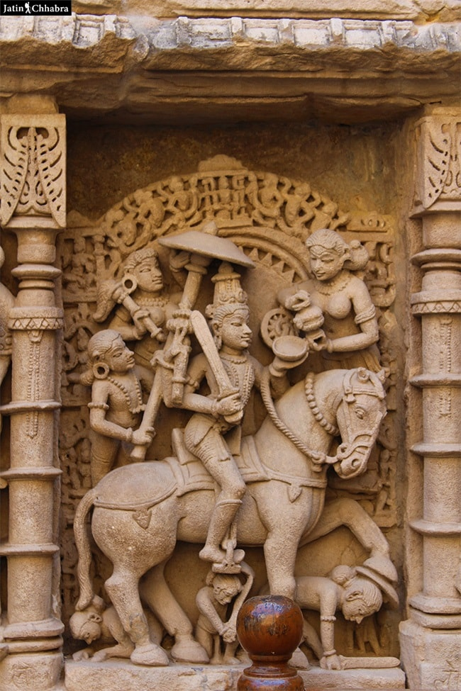 Sculpture of Kalki at Rani Ki Vav