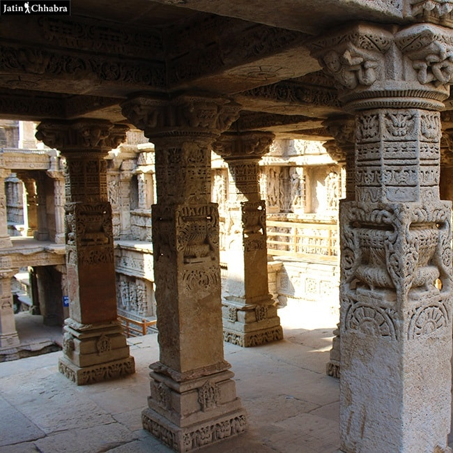 Pillars of Rani Ki Vav