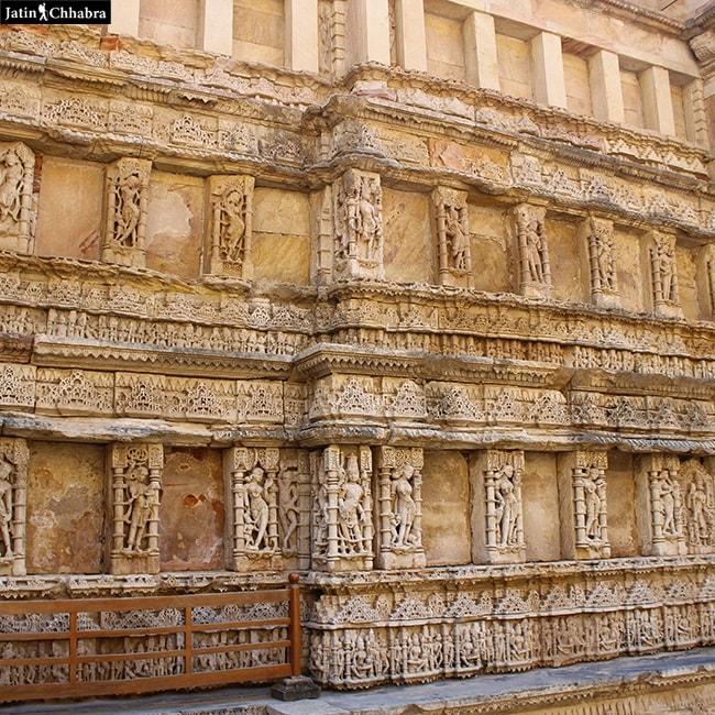 Sculptures at the lower level of Rani Ki Vav