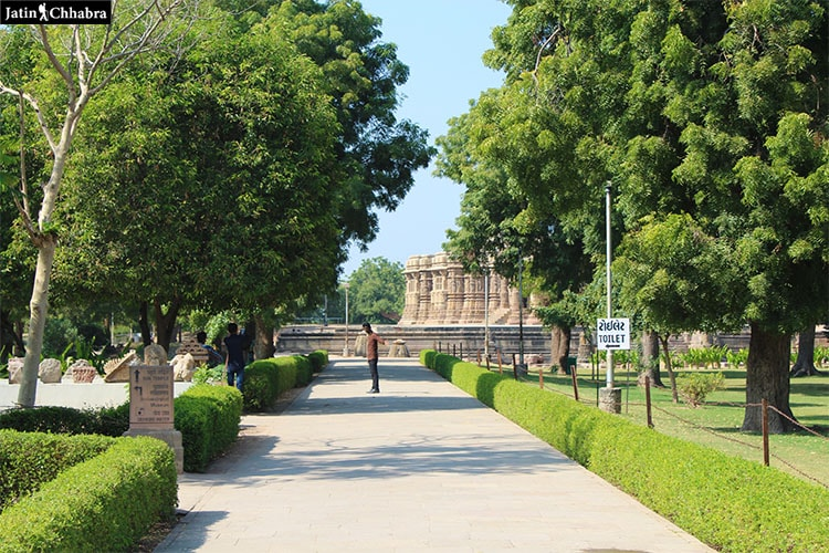 Way towards Modhera Sun Temple