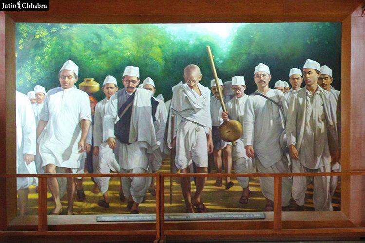 Dandi March Painting at Sabarmati Asharam