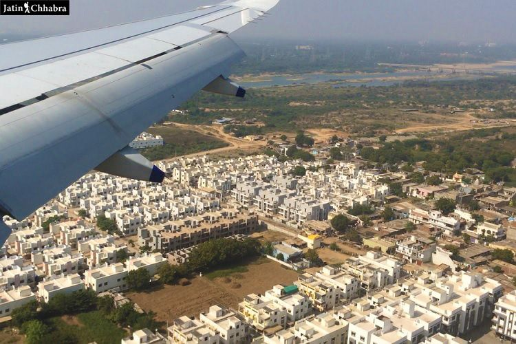 View of Ahmedabad from Airplane