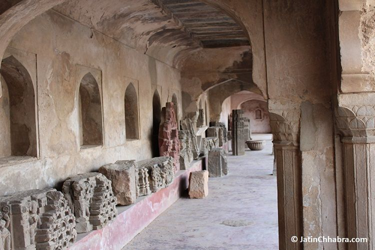 Artefacts of Harshat Mata Temple st Chand Baori