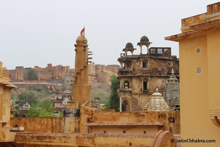 View of Amber fort from Panna Meena ka Kund
