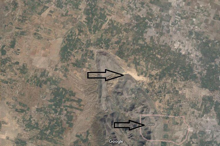 Google map image of Chhabra sand dunes