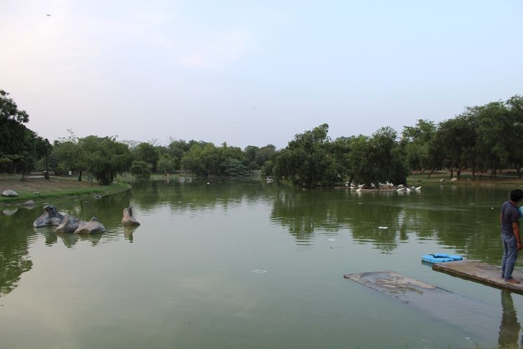 Lake at Rajghat
