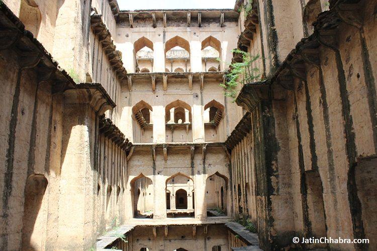 View from 3rd floor of Neemrana Baoli