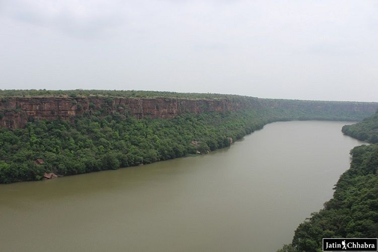 Right side view of Chambal Ghati at Garadia