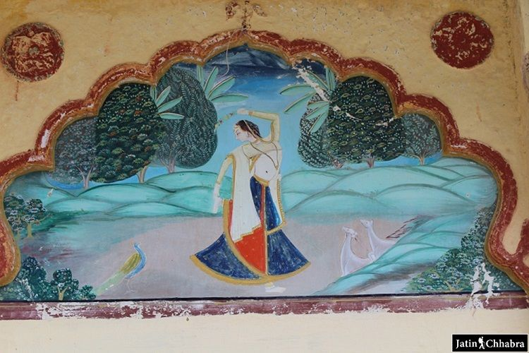 Painting at Sukh Mahal