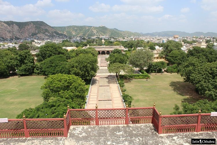View of City Palace garden from second floor