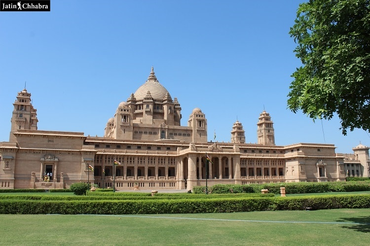 Entry view of Umaid Bhawan Palace