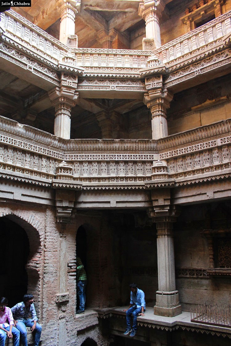 View from Fifth floor of Adalaj Vav