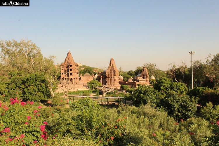 View of Mandore Garden temples from a distance