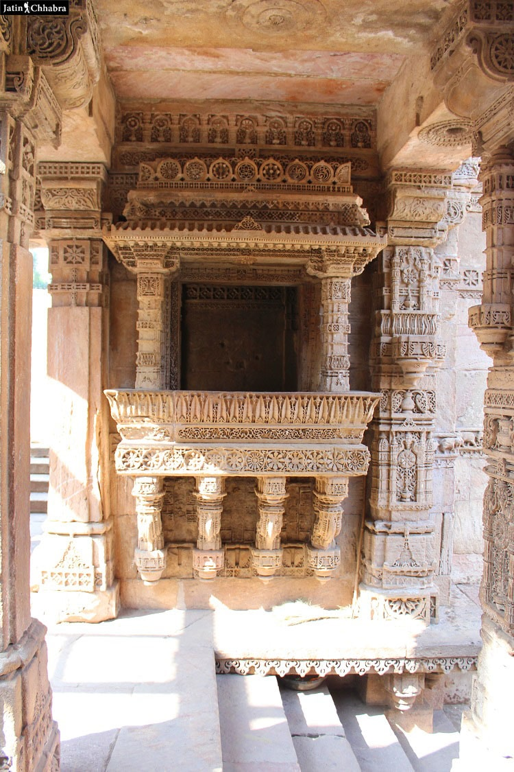 Left hand side window at Adalaj Vav