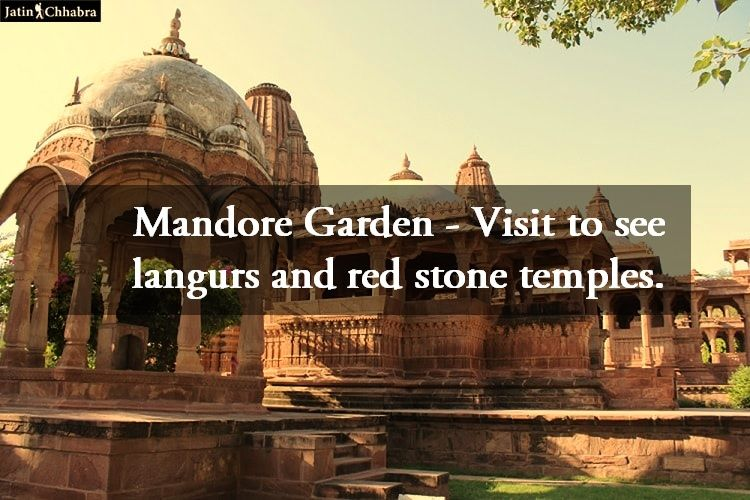 Mandore Garden - Visit to see langurs and red stone temples.