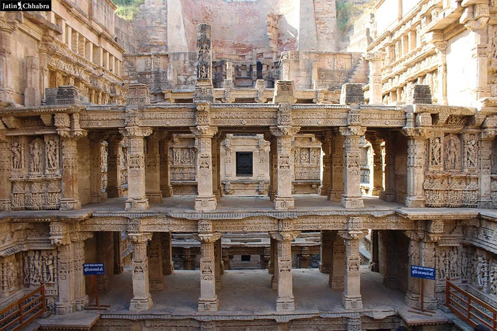 Botton floors of Rani Ki Vav