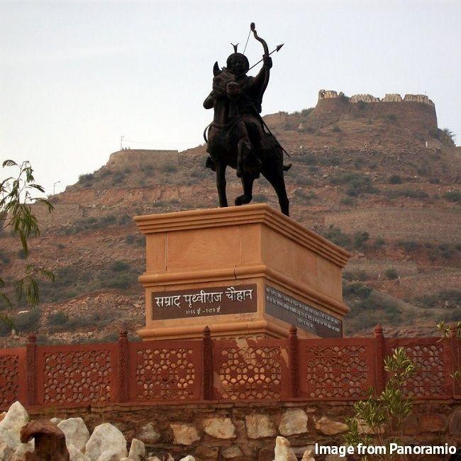Prithviraj Chauhan Statue in Ajmer Rajasthan.