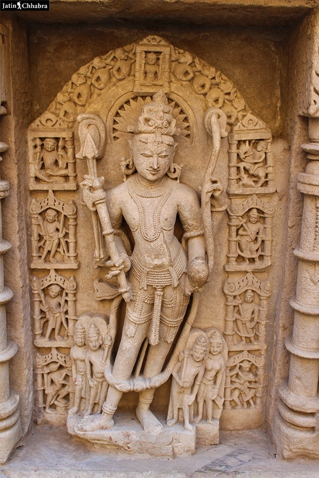 Sculpture of Ram at Rani Ki Vav
