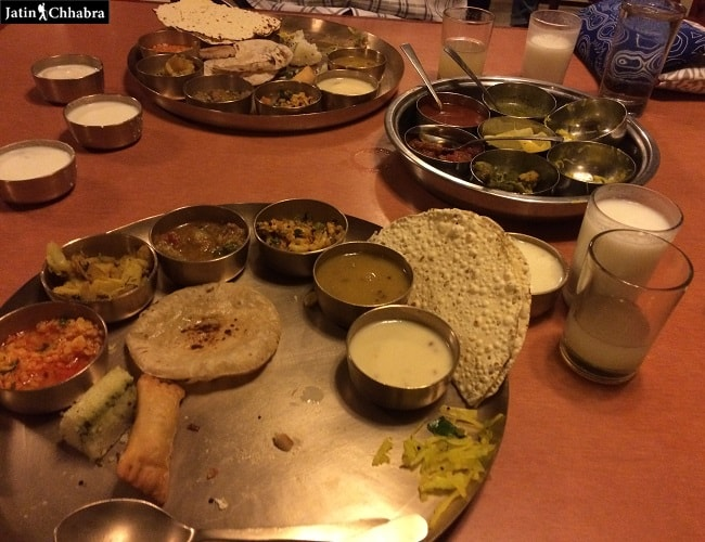 Gujarati Thali at Mandap restaurant