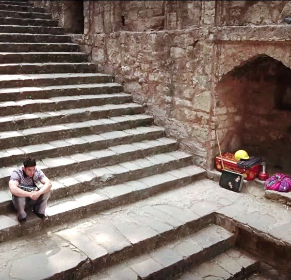 Aamir Khan at Agrasen Ki Baoli Delhi
